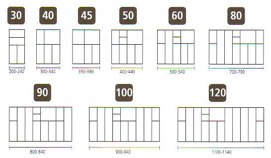 besteckkasten schubladen besteck einsatz 800 840 mm variabel zuschneidbar ebay. Black Bedroom Furniture Sets. Home Design Ideas