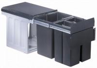 wesco einbau abfallsammler bio trio 40 1 bm 230008357. Black Bedroom Furniture Sets. Home Design Ideas
