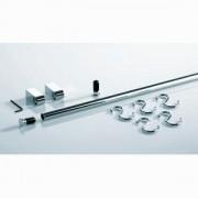 Relingset Nischensystem Linero 1200 mm Edelstahloptik