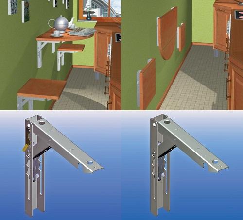 Klappbeschlag-Set verzinkt mit Sicherung-102000002