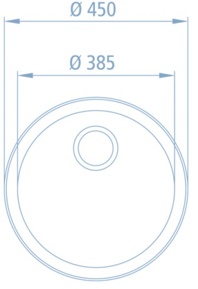einbau sp le rund modell cr edelstahl 200000694. Black Bedroom Furniture Sets. Home Design Ideas