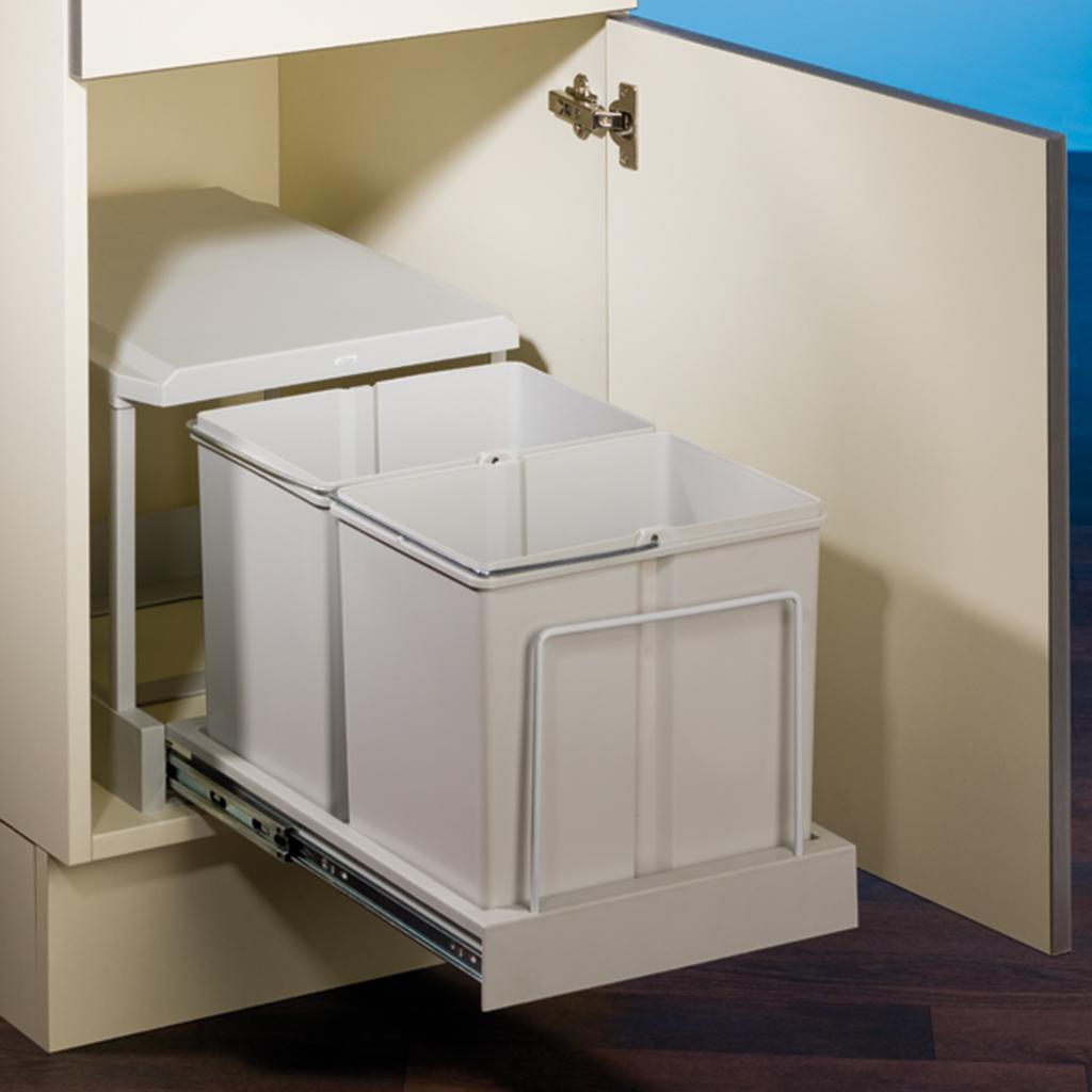 naber clax 2/450-2 vollauszug 2 x 15 liter grau-230000597