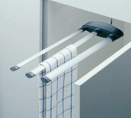 Handtuchhalter Küche handtuchhalter hailo secco alu line 3fach silber schwarz 270000713