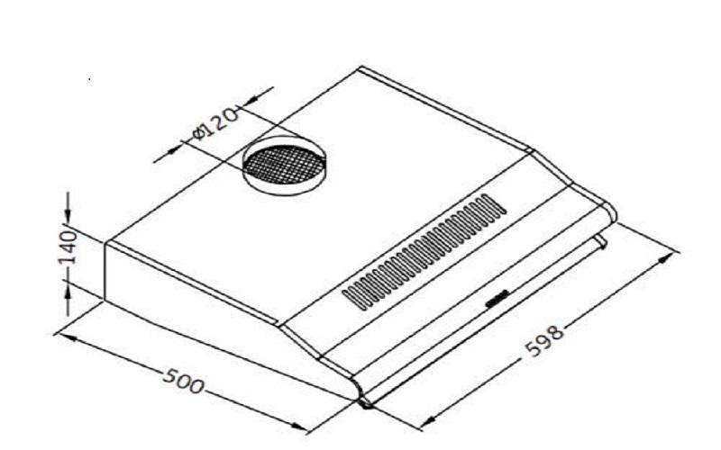 pkm ubh3001x unterbauhaube dunstabzugshaube 60 cm edelstahl mit glasschirm. Black Bedroom Furniture Sets. Home Design Ideas