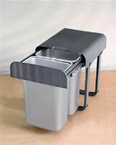 abfallsammler aladin 2 x 8 liter kunststoff grau 230000774. Black Bedroom Furniture Sets. Home Design Ideas