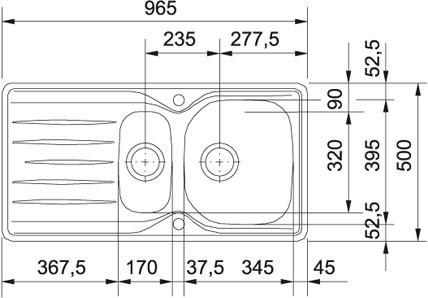 franke libera lix 651 edelstahl. Black Bedroom Furniture Sets. Home Design Ideas
