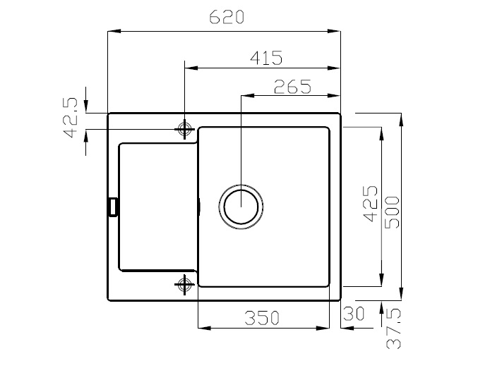 franke maris mrg 611 62 magnolia fragranit 200000866. Black Bedroom Furniture Sets. Home Design Ideas